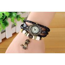 Relógio Bracelete Pulseira Vintage Pingente De Coruja Barato