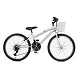 Bicicleta Aro 24 Serena Plus Branco Feminina - Master Bike
