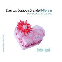 12 Cajas De Acetato, Cajas De Mica En Forma De Corazón