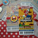 Mario Bros ::: Tarjeta De Invitación Personalizada