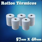 Caja De 25 Rollos Termicos De 57x40 Mm 100% Blanco