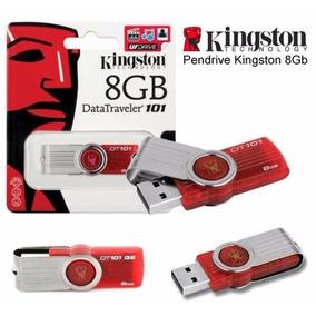 10 Pendrives 8gb Kingston Dt101g2 Vermelho Promoção !!!
