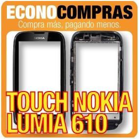 Touch Screen Para Nokia Lumia 610 Color Negro 100% Nuevo!!!!