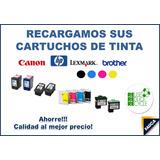 Recarga De Cartuchos Hp, Canon, Lexmark, Suministros Fauca