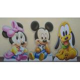 Disney Baby Minnie Mickey 3 Chão E 6 Mesa Frete Gratis