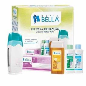 Kit Depilação Cera Sistema Roll-on Depil Bella + 4 Brindes