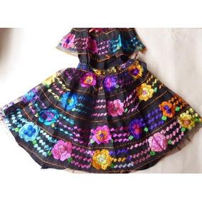 Chiapas Vestido T/4 Bailes Escolares Trajes Tipicos Nvb