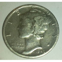Moneda Plata 1 Dime Dollar 1945/47 Usa Estados Unidos *019