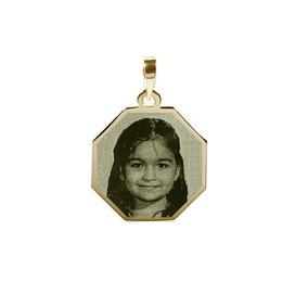 Pingente De Ouro 18k Personalizado C. Foto - Fotogravação