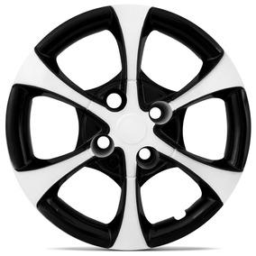 Calota Tuning Esportiva Aro 14 Black White Palio Corsa Siena