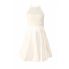 Vestido De Nena De Encaje Y Saten De Fiesta, Brishka N-0059