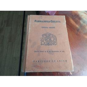 Antiguo Libro Farmacopea Chilena