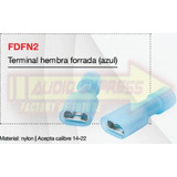 Terminal Bocina Azul Hifi (zapata) 100 Pzas F1f123