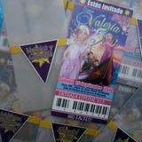 Rapunzel - Enredados - Tarjeta De Invitación Personalizadas