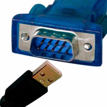 Cabo Adaptador Usb 2.0 Serial Conversor Rs232 Db9 9 Pinos +