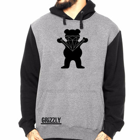 Blusa Moletom Raglan Grizzly Lrg Diamond Primitive Dgk Palac