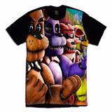 Five Nights At Freddy Fazbear Geek Camiseta Game Fnaf Jogo