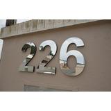 Letras Números 15 Cm Inox Residencial Corte Laser Algarismos
