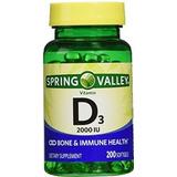 Costo Envio Gratis Vitamina D3 2000 Iu 200 Pzs Spring Valley
