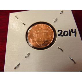 Bb#3 Moneda Shield Escudo Lincoln Cent Usa 2014 Nueva