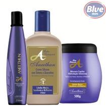 Kit Aneethun Profissional Linha A Máscara+shampoo+condiciona