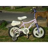 Hermosa Bici Lila Rodado 12...