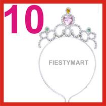 10 Coronas Princesa Diadema Disfraz Fiesta Xv Boda Dj Velos