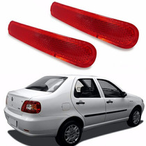 Refletor Para-choque Siena 2002 03 04 05 06 A 09 2010 - Par