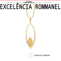 Pingente Navete Pedra Fosca Foheado Ouro Rommanel 541967