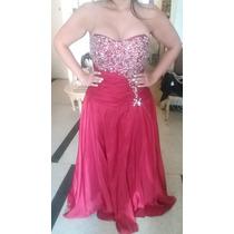Vestido Rojo De Fiesta Con Pedreria Talla Plus 14