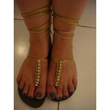 Havaianas Chinelo Sandalia Gladiadora Tam. 36 Dourada Strass