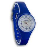Reloj Tressa Dama Caucho Sumergible 100m Luz Origin Garantia