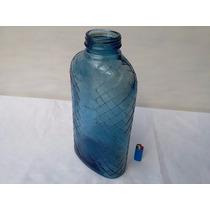 Antiguo Botellon Azul Frasco Impecable Gran Tamaño Deco