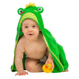 Toalla Para Bebé Rana Verde Zoocchini