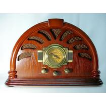 Antigo Rádio Am / Fm Caixa De Madeira Magnífica Decoração