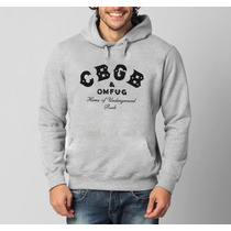 Blusa Cbgb House The Underground Rock Moletom Canguru