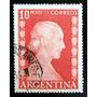 Argentina, Sello Gj 1020 Eva Perón 10p Usado L5801