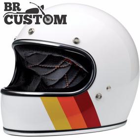 Capacete Biltwell Gringo Tri-stripe Tamanho G (59/60) Custom