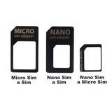 Adaptador Chip X3 Micro Sim + Nano Sim + Nano Micro + Clip
