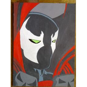 Cuadro Pintura Spawn 28x38cm Pintado Sobre Madera Fibrofácil