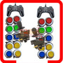 Kit Arcade 2 Comandos 20 Botoes 2 Controles Usb Brinde
