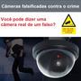 Falsa Câmera De Segurança Com Sensor De Movimento Menor Preç