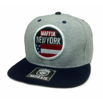 Boné Aba Reta Snapback Maffia & Co. Original New York K-92