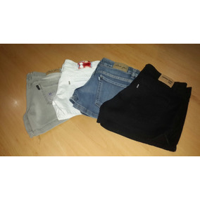 Shorts De Jean Y De Gabardina. ..