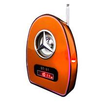Velikka Bocina Bateria Recargable Usb Fm Led Neon St-61 Nara