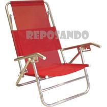 Reposeras Aluminio Super Oferta 5 Posiciones Camping Playa