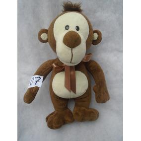 Macaco Marrom Detalhe Branco 30x30