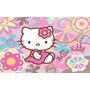 Painel Em Lona Hello Kitty 1,50 X 1,00 Mt