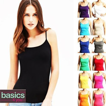Lote De 12 Blusas Basicas De Tirantes De Mujer De Colores
