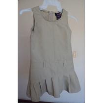 Vestidito Para Niña Color Capuchino Talla 6 Años Vn14